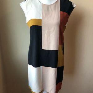 Loft color block shift dress